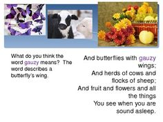 """This Powerpoint (Microsoft Office 2010) features the poem """"Jack Frost"""" by Gabriel Setoun. There is a stanza on each slide and a question for students.  Questions pertain to rhyme, content, context clues to determine meaning.  There is also discussion of myth and personification."""