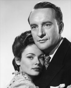 George Sanders and Gene Tierney in The Ghost and Mrs. Muir (1947)