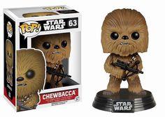 Cabezón Chewbacca 10 cm. Star Wars Episodio VII. Línea POP!. Funko Estupendo cabezón de Chewbacca de 10 cm, fabricado en vinilo de alta calidad y 100% oficial y licenciado visto en Star Wars Episodio VII. Un cabezón perfecto como regalo a los fans.