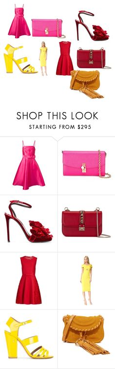 """""""Modalist Style"""" by digitalshopping on Polyvore featuring P.A.R.O.S.H., Dolce&Gabbana, Ermanno Scervino, Valentino, Giambattista Valli, Cushnie Et Ochs, Laurence Dacade, See by Chloé, Color and beautiful"""