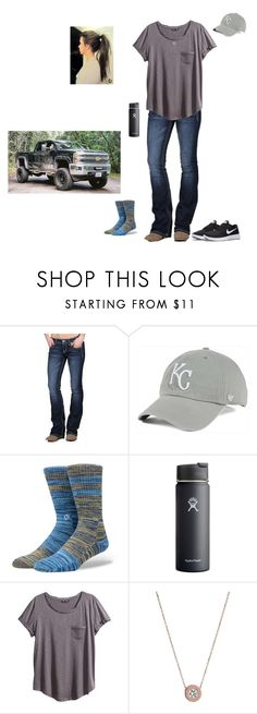 """""""I need a slow and calm day."""" by kansascountrygirl ❤ liked on Polyvore featuring Miss Me, '47 Brand, Stance, Hydro Flask, H&M, Michael Kors and NIKE"""