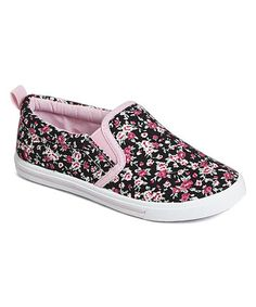 This Black Floral Slip-On Sneaker by Chatties is perfect! #zulilyfinds