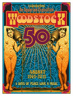 This is a commemorative poster celebrating the Anniversary of The Woodstock Music & Art Fair at Bethel Woods August I created an original poster for the Festival which is available on this site as well. x on Archival Paper using Pigmented Inks and signed. Woodstock Poster, Woodstock Hippies, Woodstock Music, Woodstock Photos, Rock Posters, Band Posters, Music Posters, Festival Posters, Concert Posters