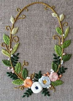 Wonderful Ribbon Embroidery Flowers by Hand Ideas. Enchanting Ribbon Embroidery Flowers by Hand Ideas. Brazilian Embroidery Stitches, Hand Embroidery Stitches, Learn Embroidery, Silk Ribbon Embroidery, Hand Embroidery Designs, Embroidery Techniques, Embroidery Art, Cross Stitch Embroidery, Embroidery Supplies