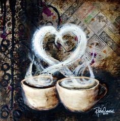 Coffee Love | Rachel Whetzel (I should have painted something like this!!  Always next time!)