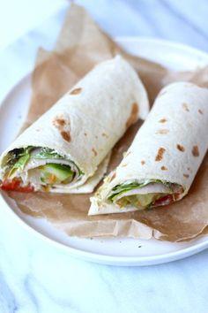 Lunch wrap tips - Lekker en Simpel Veggie Wraps, Healthy Wraps, Healthy Food, Healty Lunches, Lunch Snacks, Vegetarian Recepies, Best Lunch Recipes, Brunch, Lunch To Go