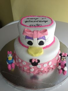 Mini Mouse/Daisy Duck cake