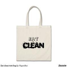 Eat clean tote bag