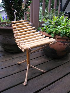 Bamboo xylophone Bamboo Art, Bamboo Crafts, Bamboo Furniture, Furniture Ads, Luxury Furniture, Kids Outdoor Spaces, Bamboo Architecture, Backyard For Kids, Diy Recycle