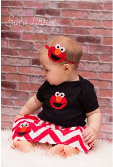 Baby Girls Boutique Red & Black Elmo Skirt and Onesie/ T-Shirt Set Little Girls Elmo Outfit Clothes Birthday Girl Set by BabyGirlTutus on Etsy
