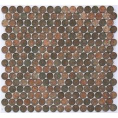 Trek - Lyric Matte Glazed Porcelain Penny Tile Round Mosaics by the sheet-mosaictilesupplies.com