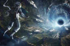 General 2000x1333 space astronaut black holes lens flare digital art futuristic science fiction landscape