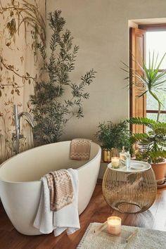 7 SPA-geïnspireerde badkamers waar je deze zomer dol op zult zijn - Daily Dream Decor Zara Home Kitchen, Zara Home Bathroom, Boho Bathroom, Bathroom Interior, Budget Bathroom, Bathroom Towels, Bathroom Ideas, Remodel Bathroom, Bathroom Organization