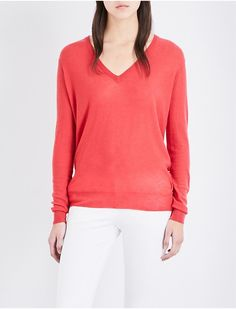 JOSEPH - Cashair V-neck cashmere jumper | Selfridges.com