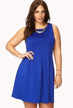 Refined Pleated Fit & Flare Dress | FOREVER 21 - 2079980055