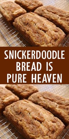 Snickerdoodle Bread is Pure Heaven - Cinnamon Recipes, Baking Recipes, Snickerdoodle Bread, Tasty Bread Recipe, Breakfast Recipes, Dessert Recipes, Delicious Desserts, Yummy Food, Bread And Pastries
