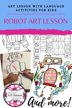 Art lesson with language (writing) activities. These no-prep art projects are perfect for your art sub tub. Easy to implement for substitute teachers. Plus, the engagement will help with behavior! Perfect to start your art integration activities or to use as mini-lessons in larger units. Use as writing prompts and center printables. Great for homeschooling, language arts teachers, and art teachers alike. This resource is adaptable across multiple grade levels. Differentiation ideas included.