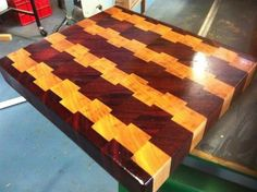 Jarrah and White Mahogany CB... - by degoose @ LumberJocks.com ~ woodworking community  Cutting board