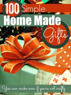 100 simple home made gifts you can make even if you are not crafty @mumsmakelists #Christmas