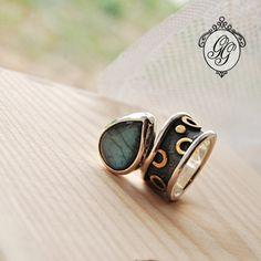 GGALLERY - MINI ETNO - pierścionek z nefrytem