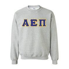 Alpha Epsilon Pi Fraternity Standards Crewneck Sweatshirt - Gildan 18000 - Twill