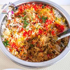 This Indian chicken biryani is yogurt marinated chicken cooked under aromatic basmati rice flavored with spices and garam masala. It also includes golden fried onions and saffron or food color for that vibrant authentic look. #ChickenBiryani #IndianBiryani #HyderabadiBiryani #BestBiryani #Biryani Chicken Biryani Recipe Indian, Indian Chicken, Biryani Chicken, Chicken Curry, Curry Dishes, Rice Dishes, Masala Spice, Garam Masala, Chana Masala