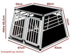 Aluminium Autobench N3 voor veilig transport van uw hond in uw auto. Kies eenvoudig uw autobench op merk en model auto bij Dierenvilla