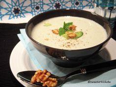 Yogurt and walnut cold Turkish soup.
