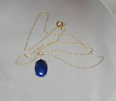 Natural Lapis Lazuli Pendant Necklace 14x10mm 14Kt Gold Filled or Sterling Silver Pendant http://etsy.me/14LTMKF #lapislazulinecklace #lapis