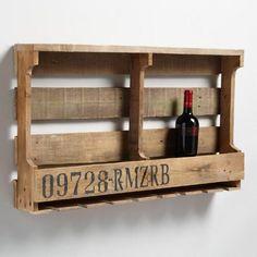 pallet wall wine rack. Double Pallet Wall Wine Rack