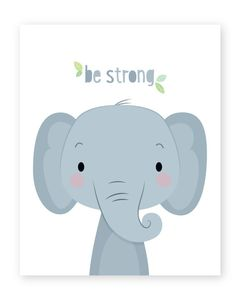 Nursery Prints, Nursery Wall Art, Nursery Decor, Jungle Theme Nursery, Animal Nursery, Elephant Nursery, Elephant Baby, Elephant Print, Scrapbooking Image