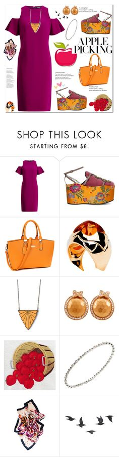 """""""Apple picking"""" by eldinreham ❤ liked on Polyvore featuring Gucci, Bulgari, Pasquale Bruni, Sydney Evan, Jayson Home and applepicking"""