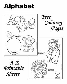 Alphabet coloring pages!