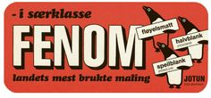 Cool ad from Jotun Paints. Jotun Paint, Nom Nom, Retro, Stationary, Painting, Painting Art, Paintings, Mid Century