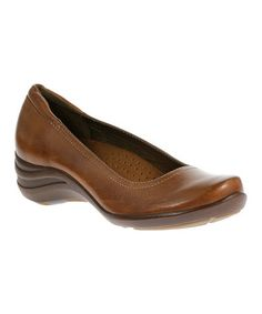Another great find on #zulily! Tan Alter Leather Pump #zulilyfinds