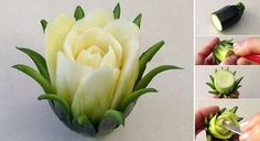 Amazing Art Of Food: The Breathtaking Zucchini Cactus Rose Flower