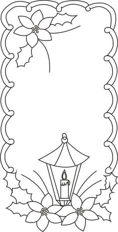 Pin by linda frank on adult and children 39 s coloring pages pinterest candles - Dibujos de navidad para bordar ...