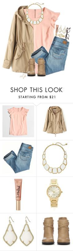 """""""Getting close to 1500!!!"""" by thedancersophie ❤ liked on Polyvore featuring J.Crew, American Eagle Outfitters, Kate Spade, Too Faced Cosmetics, Kendra Scott and Wallis"""
