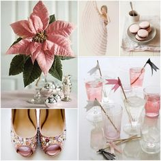More pink poinsetta ideas.