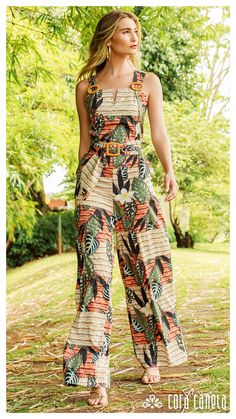 Look Book 22 - Cora Canela Casual Chic Outfits, Boho Outfits, Fashion Outfits, Vetement Fashion, Jumpsuit Pattern, African Fashion Dresses, Jumpsuits For Women, Blouse Designs, Boho Fashion