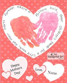 Looking for something quick and simple to make for Mother's Day with kids? Here is a free printable that we used as a handprint craft, but there are so many other ways kids could decorate the inside. How to make the Handprint Heart Paint one hand pink, then press it down inside the heart with …