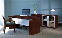 This #Napoli series #ExecutiveDesk is perfect for modern office applications and includes free shipping!