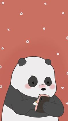 Find images and videos about cartoon, bear and panda on We Heart It - the app to get lost in what you love. Cute Panda Wallpaper, Bear Wallpaper, Cute Disney Wallpaper, Kawaii Wallpaper, We Bare Bears Wallpapers, Panda Wallpapers, Cute Cartoon Wallpapers, Cute Wallpaper Backgrounds, Wallpaper Iphone Cute