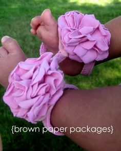sew, baby girl gifts, babi slipper, brown paper packages, babi bloom, baby gifts, summer shoes, gift idea, slipper diy