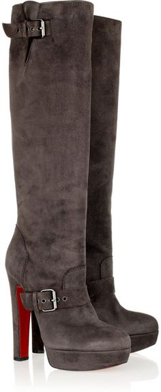 CHRISTIAN LOUBOUTIN Harletty 140 Suede Knee Boots
