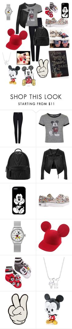 """""""Mickey Mouse"""" by pinappledancer1186 ❤ liked on Polyvore featuring Armani Jeans, Topshop, Linea Pelle, Vans, Disney, WALL, Anya Hindmarch and Swarovski"""