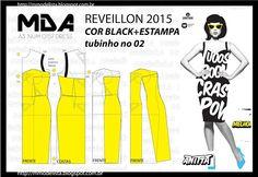 Modeler: the 0157 A3 IN BLACK & WHITE DRESS