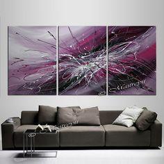 Large Painting Purple artwork on Multiple Canvases by largeartwork Drip Art, Drip Painting, Large Painting, Action Painting, Art Paintings For Sale, Your Paintings, Canvas Paintings, Oil Painting Abstract, Abstract Wall Art