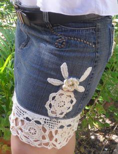 Saia jeans customizada, Beny