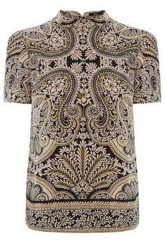 La dernière collection de vêtements femme est en ligne chez Oasis   Multicolore T-shirt habillé à motif cachemire   Oasis